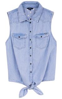 Джинсовая рубашка с завязками Pepe Jeans London