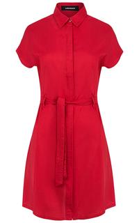 Красное платье с поясом La Reine Blanche