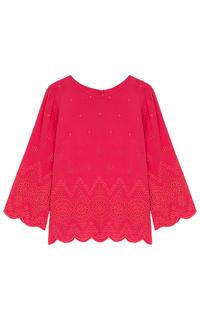 Красная блузка с перфорацией Pepe Jeans London