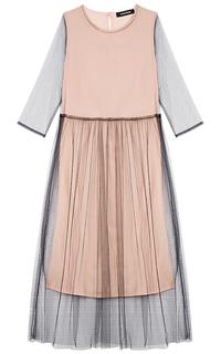 Платье с юбкой из фатина La Reine Blanche