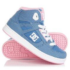 Кеды кроссовки высокие детские DC Rebound Tx Se Blue/White Print
