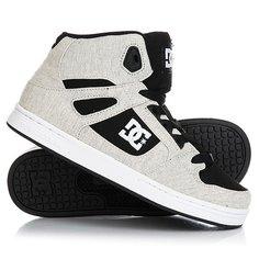 Кеды кроссовки высокие детские DC Rebound Tx Se Black/White/Black