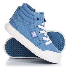 Кеды кроссовки высокие детские DC Evan Hi Tx Blue/White