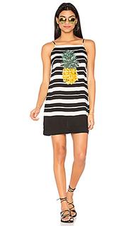 Полосатое платье с принтом ананас - FARM