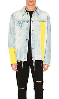 Джинсовая куртка с желтыми вставками - C2H4