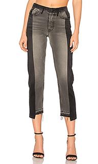Прямые укороченные джинсы высокой посадки helena - GRLFRND