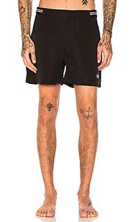 Пляжные шорты-бомбер с ленточным поясом - Fred Perry