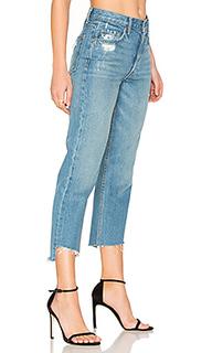 Изящные укороченные прямые джинсы с высокой талией helena - GRLFRND