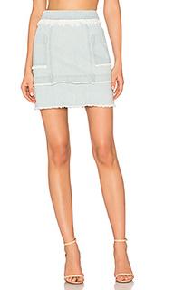 Джинсовая юбка с панельными вставками - NICHOLAS
