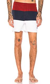 Полосатые пляжные шорты - Fred Perry