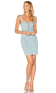 Джинсовое платье со вставками - NICHOLAS