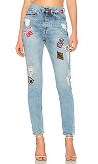 Узкие джинсы с накладкой - Etienne Marcel