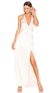 Свободное вечернее платье с v-вырезом - Halston Heritage