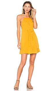 Платье с вышивкой на бретельках dahna - C&C California