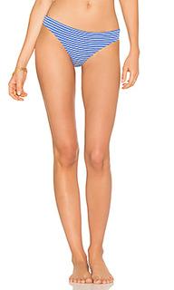 Marine eyelet stripe bikini bottom - Shoshanna