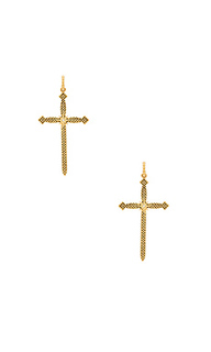 Serpent cross hoops - Luv AJ
