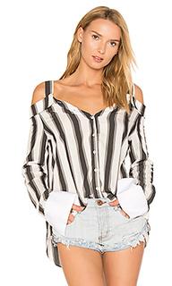 Stripe off shoulder top - KENDALL + KYLIE
