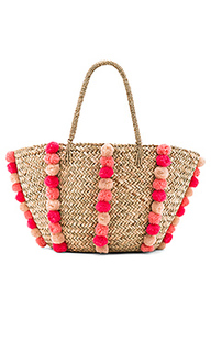 Carried away pom pom beach basket - Seafolly