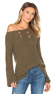 Shredded wavy sweep sweater - Pam & Gela