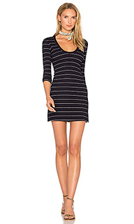 U neck bodycon dress - Capulet