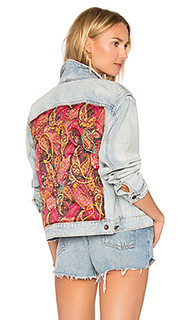 Paisley quilted denim jacket - Free People