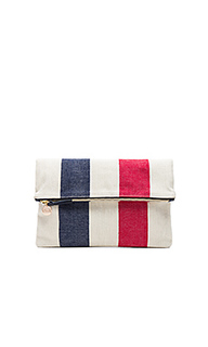 Canvas foldover clutch - Clare V.