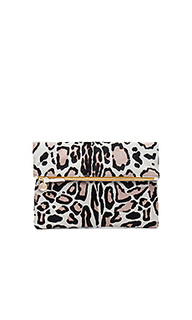 Hair on foldover clutch - Clare V.