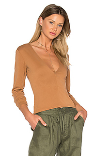 Brushed modal deep v top - MINKPINK