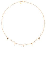 5 bar drop necklace - Amarilo
