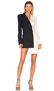 Pinstripe formal dress - OFF-WHITE