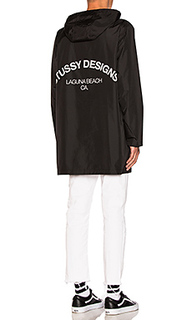 Long hooded coach jacket - Stussy