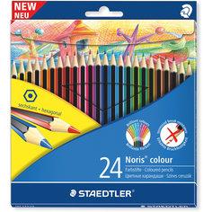 Карандаш цветной Noris Colour, набор 24 цвета, Wopex Staedtler