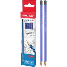 Чернографитный карандаш GRAFICA 100 (HB) шестигранный, 12 шт., Erich Krause