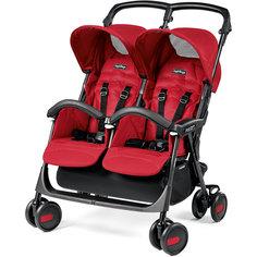 Прогулочная коляска для двойни Aria Shopper Twin,  Peg-Perego, Mod Red