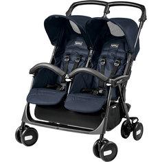 Прогулочная коляска для двойни Aria Shopper Twin,  Peg-Perego, Mod Navy