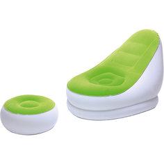 Кресло надувное с пуфиком, зеленое, Bestway