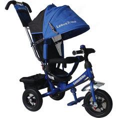 Трехколесный велосипед, регулир. спинка, синий, Lexus Trike LT
