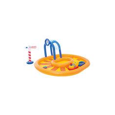 Бассейн с брызгалкой и принадлежностями для игр Железная дорога, Bestway