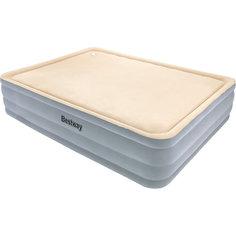 Матрас надувной с мягкой поверхностью, встроенный электронасос, 203х152х46 см, Bestway