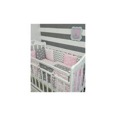 Постельное белье Короны 6 пред., by Twinz, розовый