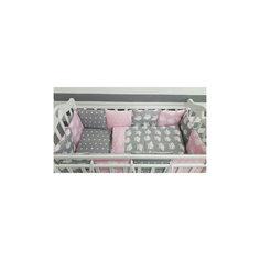 Постельное белье Совята 6 пред., by Twinz, розовый