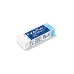 Ластик Mars plastic combi, комбинированный, бело-синий, Staedtler