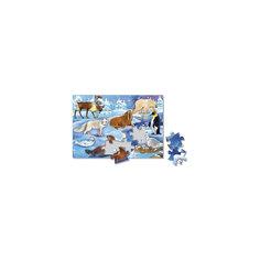 """Пазл листовой на подложке """"В снегах"""", 24 детали Издательство ГеоДом"""