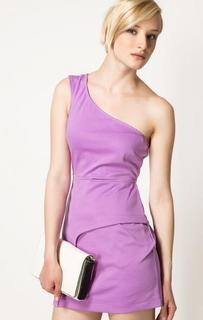 Сиреневое платье асимметричного кроя Bcb Generation