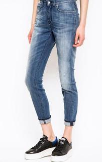 Синие джинсы с высокой посадкой Drykorn