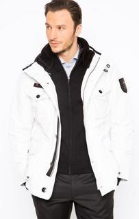 Белая куртка со скрытым капюшоном Strellson