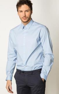 Голубая рубашка из хлопка Drykorn
