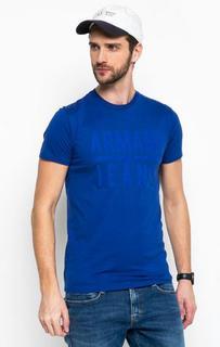 Синяя футболка из хлопка Armani Jeans