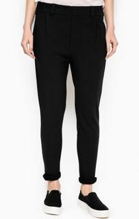 Зауженные черные брюки из хлопка Drykorn