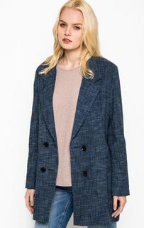 Синее пальто из хлопка Drykorn
